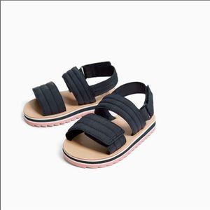 Zara baby girl nylon strap sandals